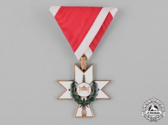 Croatia, Independent State. An Order of King Zvonimir's Crown, III Class with Oak Leaves, c.1942