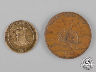 Serbia, Kingdom. Two 500th Anniversary of the Battle of Kosovo Medals 1389-1889