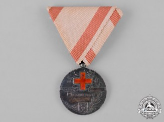 Yugoslavia, Kingdom. A Red Cross Society Medal, II Class Silver Grade, c.1935