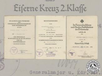 Germany, Heer. A Collection Of Award Documents To Artillery NCO Johann Schmid (EK2)