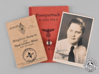 Germany, Third Reich. A Collection of HJ Documents Belonging to Toni Rohsland