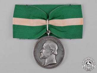 Saxe-Coburg and Gotha, Kingdom. A Duke Ernst Medal, Silver Grade, by L. Christian Lauerm, c.895