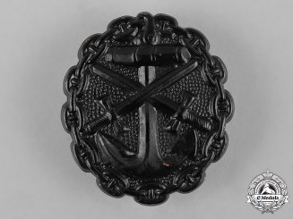 Germany, Imperial. A Naval Wound Badge, Black Grade