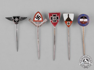 Germany, Third Reich. A Group of Third Reich Period Veterans Stick Pins