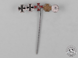 Germany, Imperial. An Extensive Award Stick Pin, c.1917