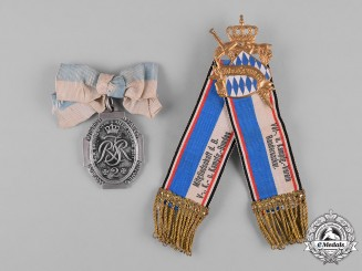 Bavaria, Kingdom. A Pair of Regimental Service Badges