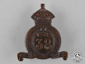 Canada. A 38th Dufferin Rifles of Canada Cap Badge, 1904 Issue