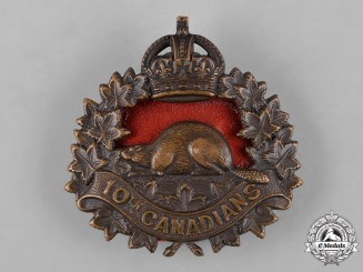 Canada. A 10th Infantry Battalion Cap Badge