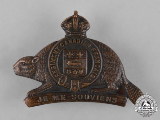 "Canada. A 22nd Infantry Battalion ""Canadiens Francais"" (Vandoos) Cap Badge, c.1915"