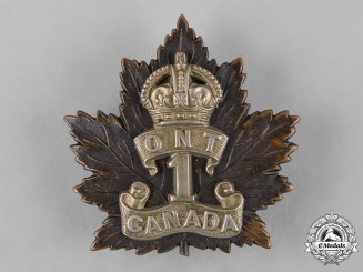 Canada. A 1st Infantry Battalion Cap Badge, by Hicks, c.1914