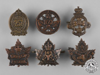 Canada. A Lot of Six First War Battalion Collar Badges