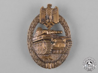 Germany, Heer. A Panzer Assault Badge, Bronze Grade, by Karl Wurster