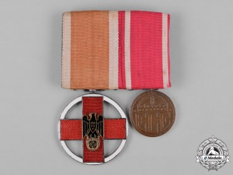 Germany, Third Reich. A Red Cross Medal Bar