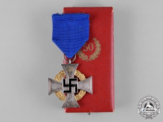 Germany, Third Reich. A 50-Year Civil Faithful Service Cross, with Case, by Deschler & Sohn