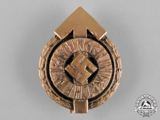 Germany, HJ. A Golden Leader's Sport Badge, Designation B, by Gustav Brehmer