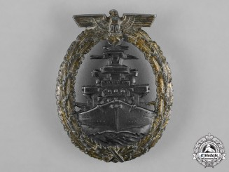 Germany, Kriegsmarine. A High Seas Fleet Badge, by Adolf Bock and Schwerin