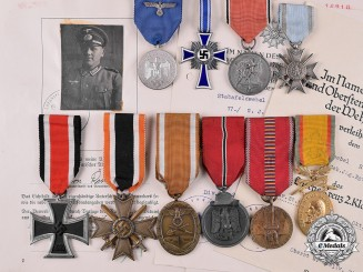 Germany, Wehrmacht. A Collection of Medals and Documents, Gebirgs Jäger Regiment 91
