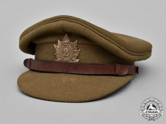 Canada. A Queen's Own Rifles of Canada Officer's Visor Cap, c.1939
