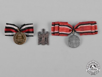 Germany, Imperial. A Lot of Three Miniature Medals, c.1918