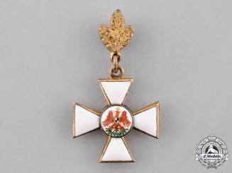 Prussia, Kingdom. A Miniature Order of the Red Eagle, III Class with Oak Leaf, c.1900
