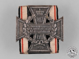 Germany, Imperial. A Hamelin Regimental 100th Anniversary Badge by Deschler & Sohn