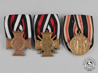 Germany, Imperial. A Lot of Three Parade Mounted Medals