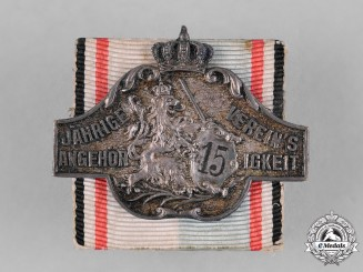 Bavaria, Kingdom. A Bavarian Regimental 15 Year Association Badge