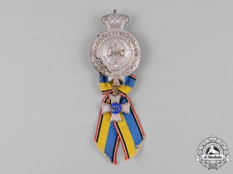 Germany, Imperial. A Braunschweig Landwehr Association 25 Year Membership Badge