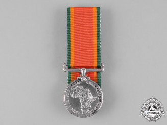 South Africa, Republic. An Africa Service Medal 1939-1945, to T.V. Baines