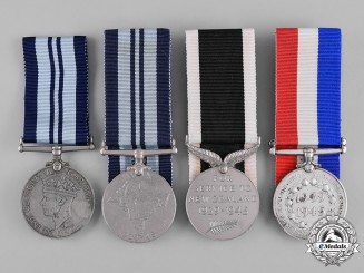 India, New Zealand, South Africa (Republic). A Lot of Four Second War Service Medals