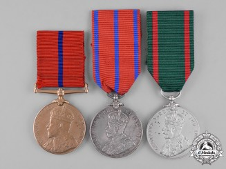 United Kingdom. Three Coronation Medals