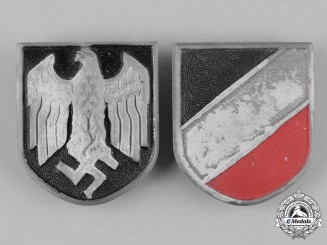 Germany, DAK. A Pair of Afrika Korps Pith Helmet Shields