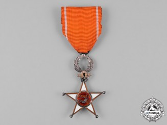 Morocco. An Order of Ouissam Alaouite, V Class Knight, c.1945