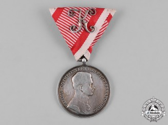 Austria, Imperial. A Silver Bravery Medal, II Class with Officer's Decoration, c.1917