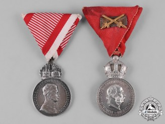 Austria, Imperial. A Pair of Military Merit Medals