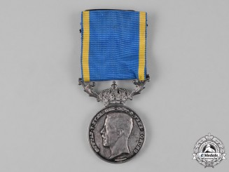 Sweden, Kingdom. A Medal for Zeal and Devotion, II Class, Silver Grade, to the Chairman of the Fleet A. Danielsson
