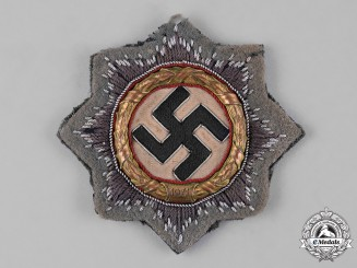 Germany, SS. A German Cross in Gold, Field Gray Cloth Version