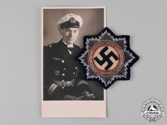 Germany, Kriegsmarine. A German Cross in Gold, to Lieutenant-Commander Friedrich Roll