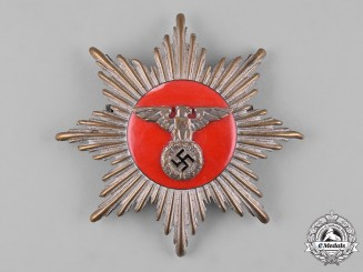 Germany, SA. A Rare Flag Bearer's Gorget Centre Piece