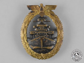 Germany, Kriegsmarine. A High Seas Fleet Badge, by C. Schwerin & Sohn