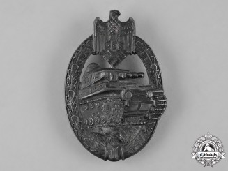 Germany, Heer. A Panzer Assault Badge, Silver Grade, by Adolf Schwerdt