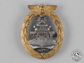 Germany, Kriegsmarine. A High Seas Fleet Badge, by Schwerin