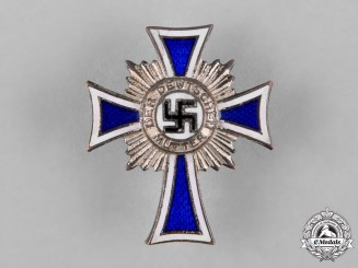 Germany, Third Reich. An Honour Cross of the German Mother, Silver Grade Pin Back