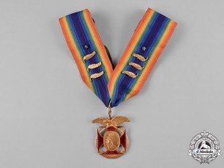 United States. A Military Order of the World Wars Past Commander's Membership Badge, c.1945