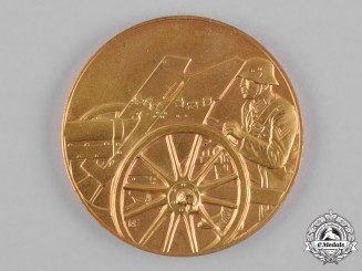 Germany, Heer. A 1933 Army (Heer) Field Artillery Marksmanship Champion Table Medal by L. Christian Lauer
