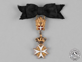Austria, Imperial. A Miniature Sovereign Military Hospitaller Order of Saint John of Jerusalem, of Rhodes and of Malta, Cross of Merit