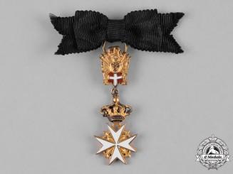 Austria, Imperial. A Miniature Sovereign Military Hospitaller Order of Saint John of Jerusalem, of Rhodes and of Malta, Cross of Merit