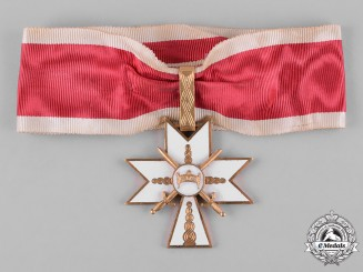 Croatia, Independent State. An Order of the Crown of King Zvonimir, I Class with Swords, c.1941