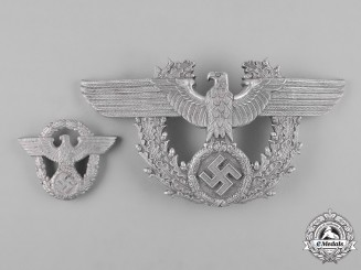 Germany, Ordnungspolizei. A Pair of (Order Police) Cap Insignia