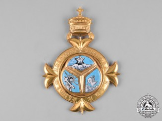 Ethiopia, Empire. An Order of the Holy Trinity, Grand Cross Sash Badge